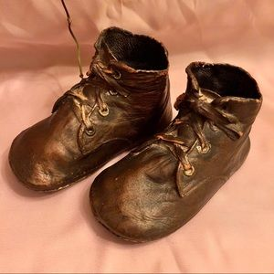 Vintage baby shoes bronzed